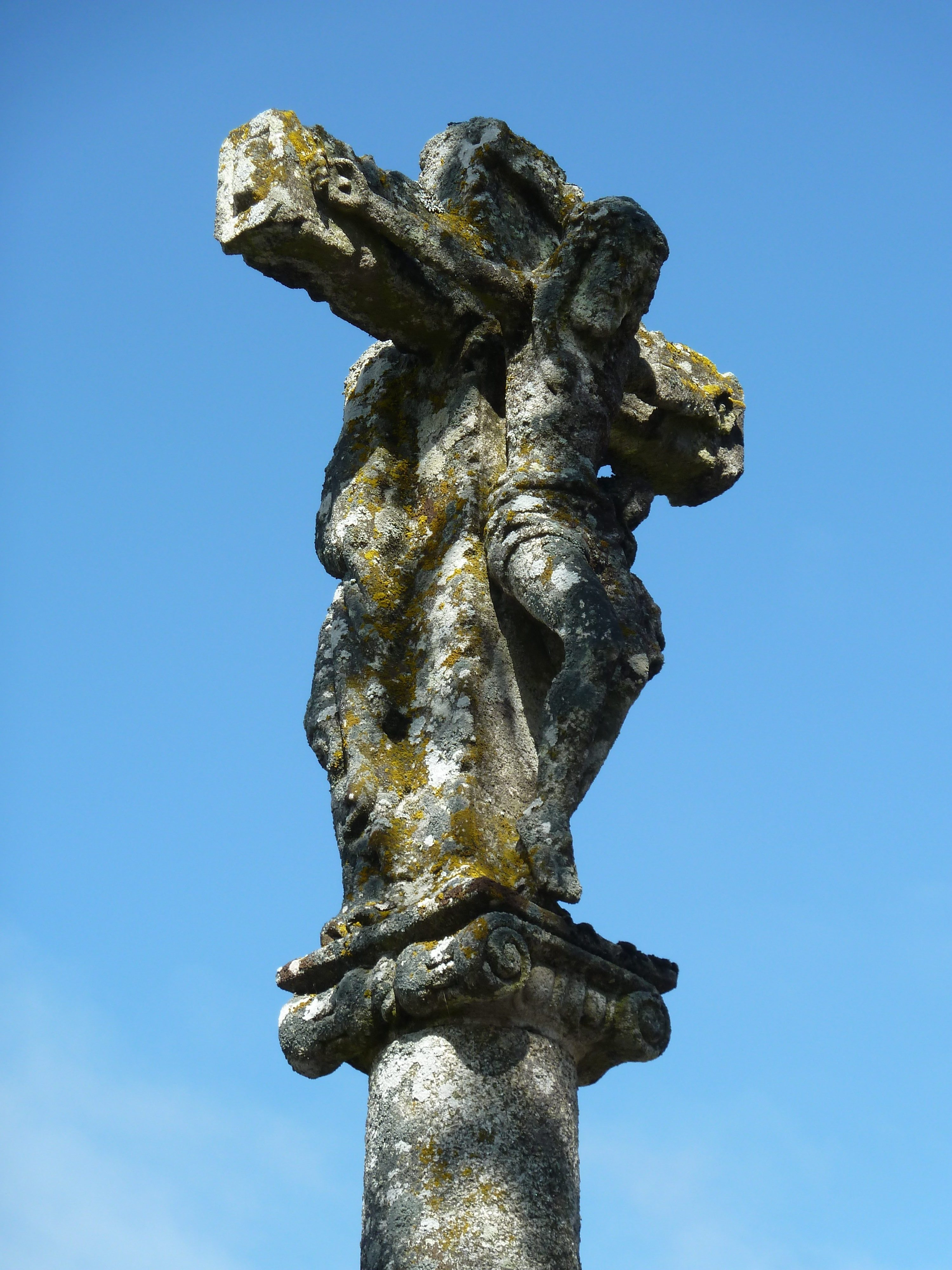 Kruis onderweg weg naar Santiago de Compostella